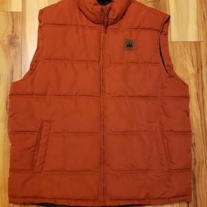 Mens XL Field & Stream Puffer Vest Burnt Orange